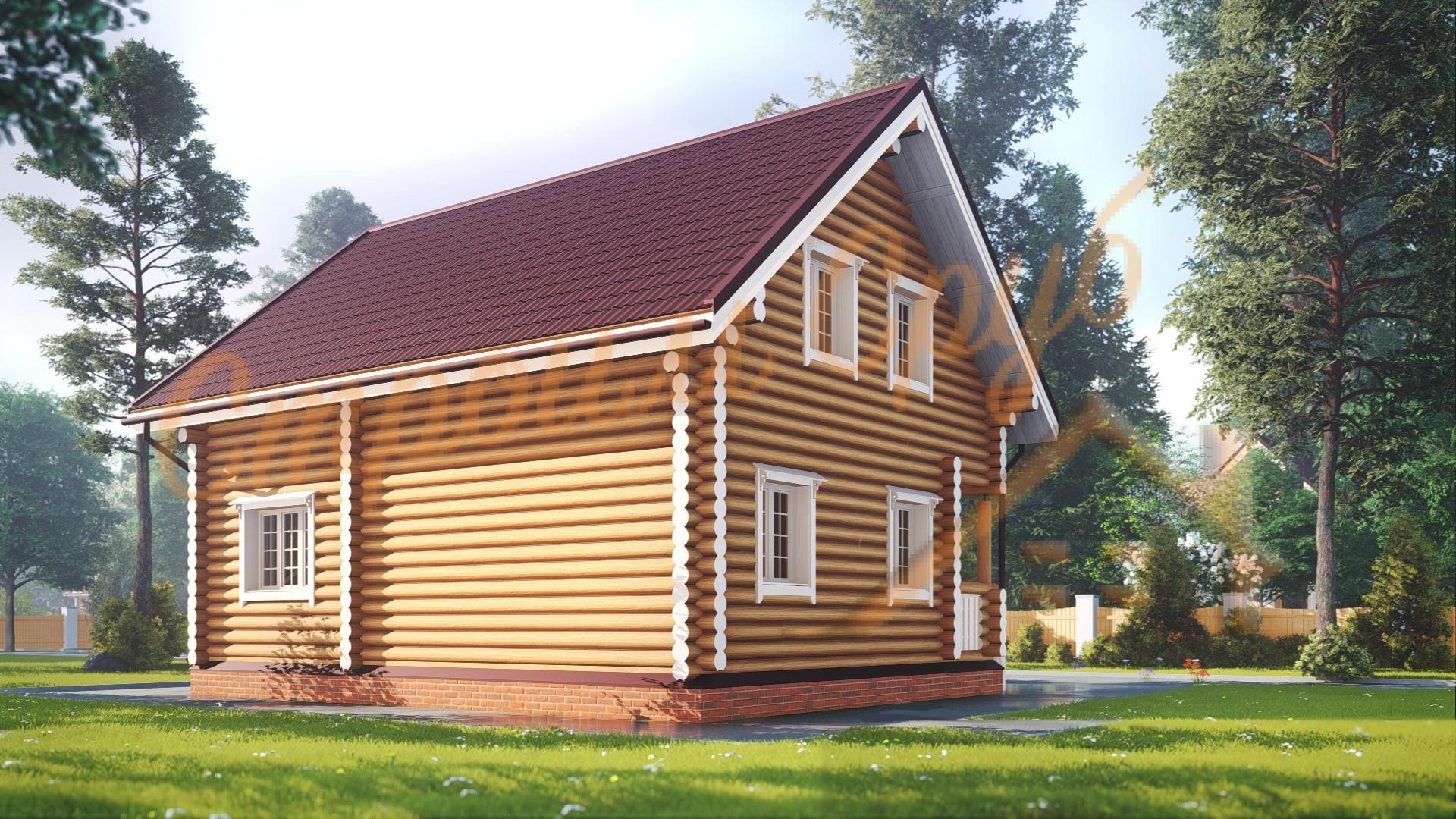 Дом из бревна 7х9 «Невероятный»