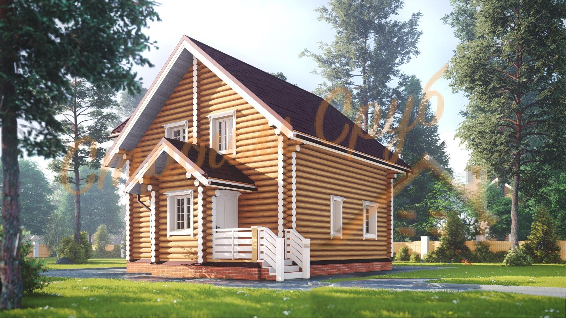 Дом из бревна 8,7х8,5 «Большой»