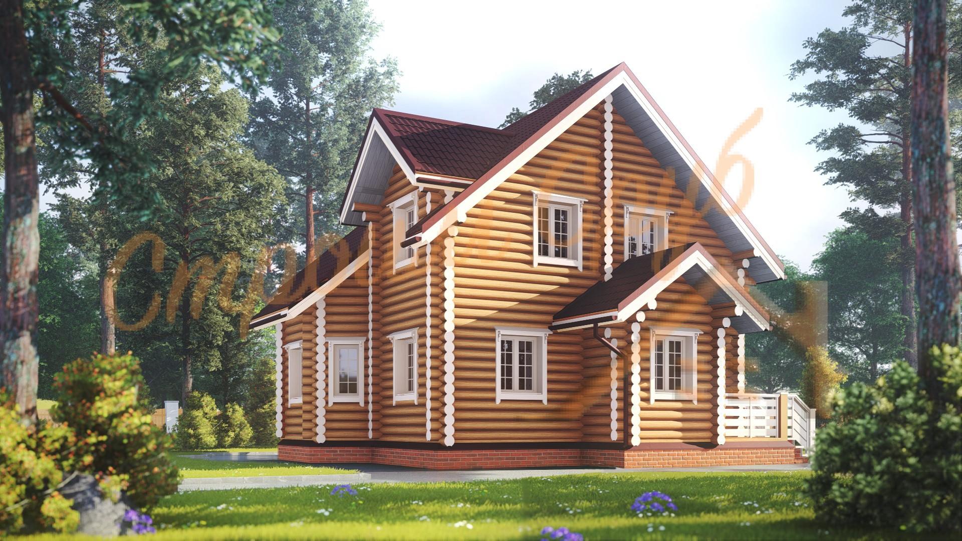 Проект дома из бревна №14
