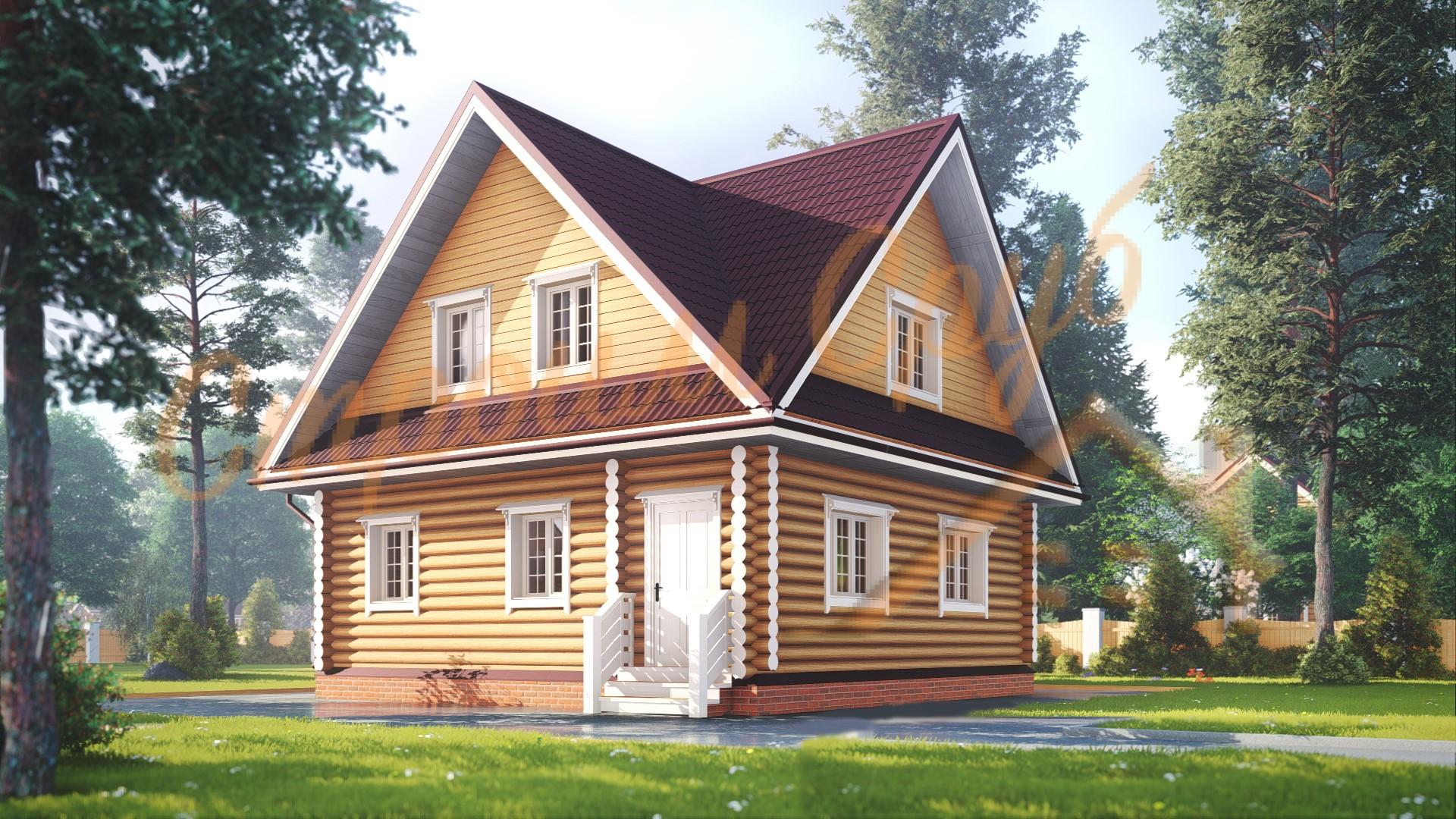 Проект дома из бревна №15
