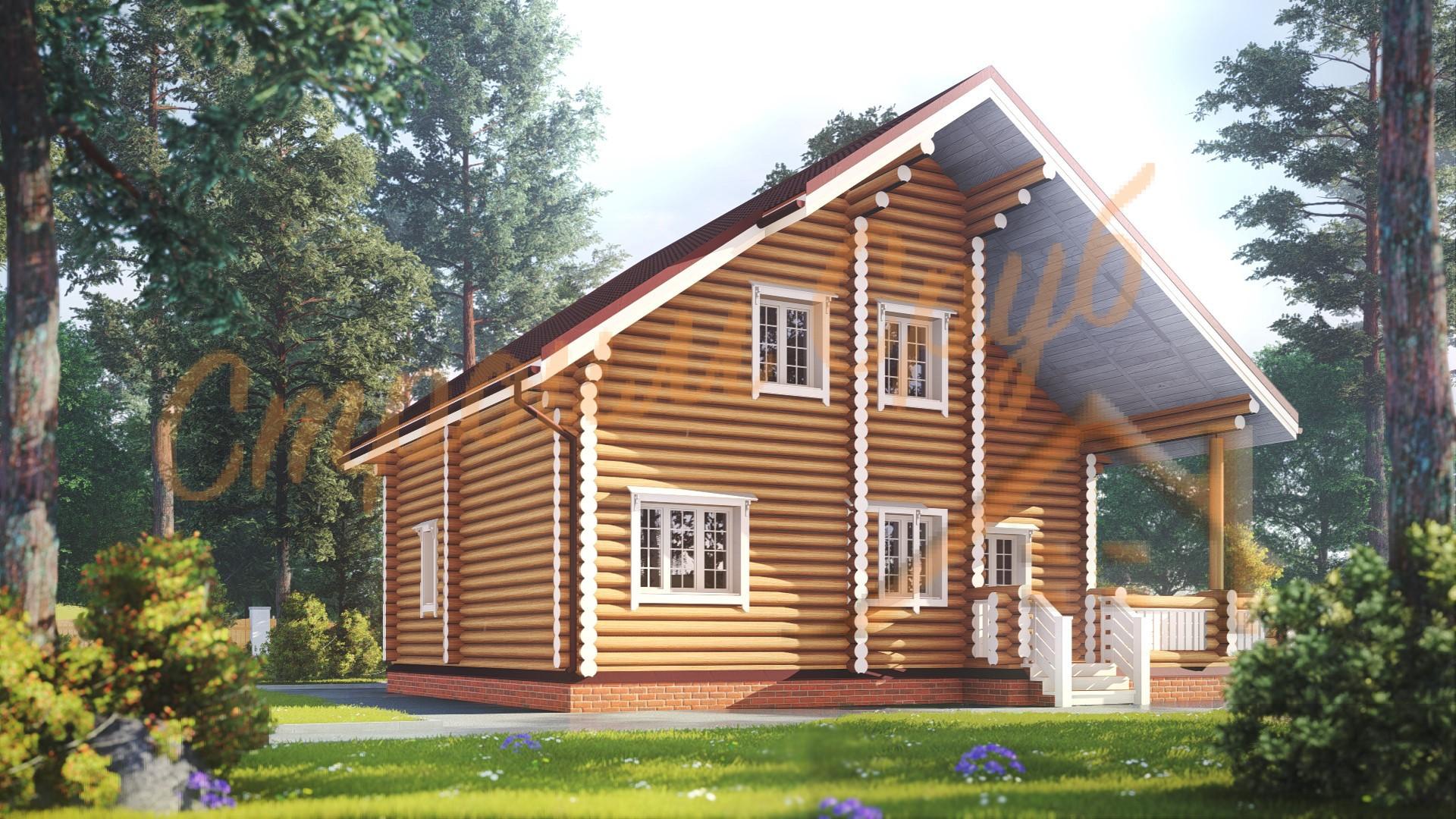 Дом из бревна 9х11,3 «Богатый»