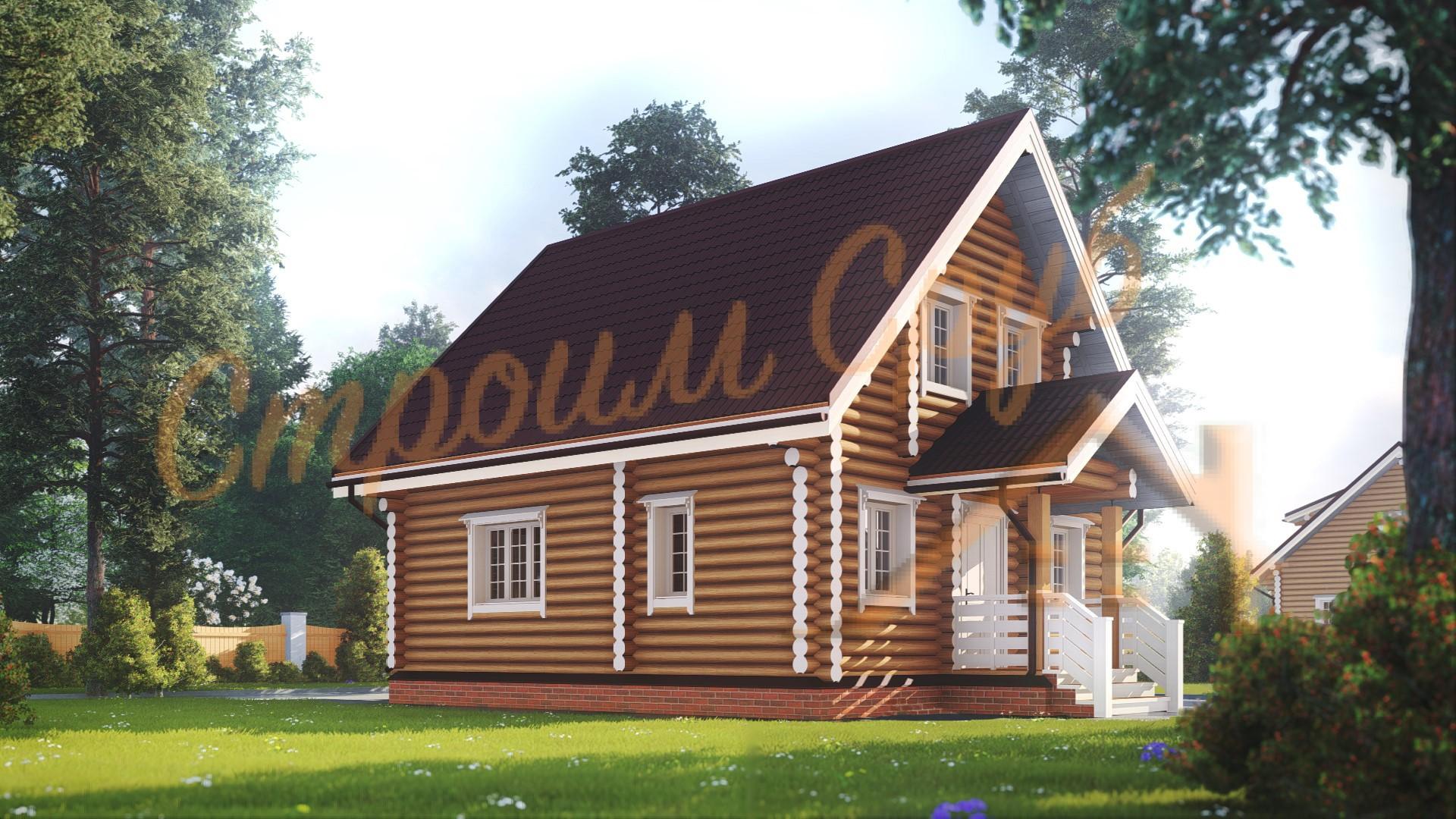 Дом из бревна 9,5х7,2 «Эксклюзивный»