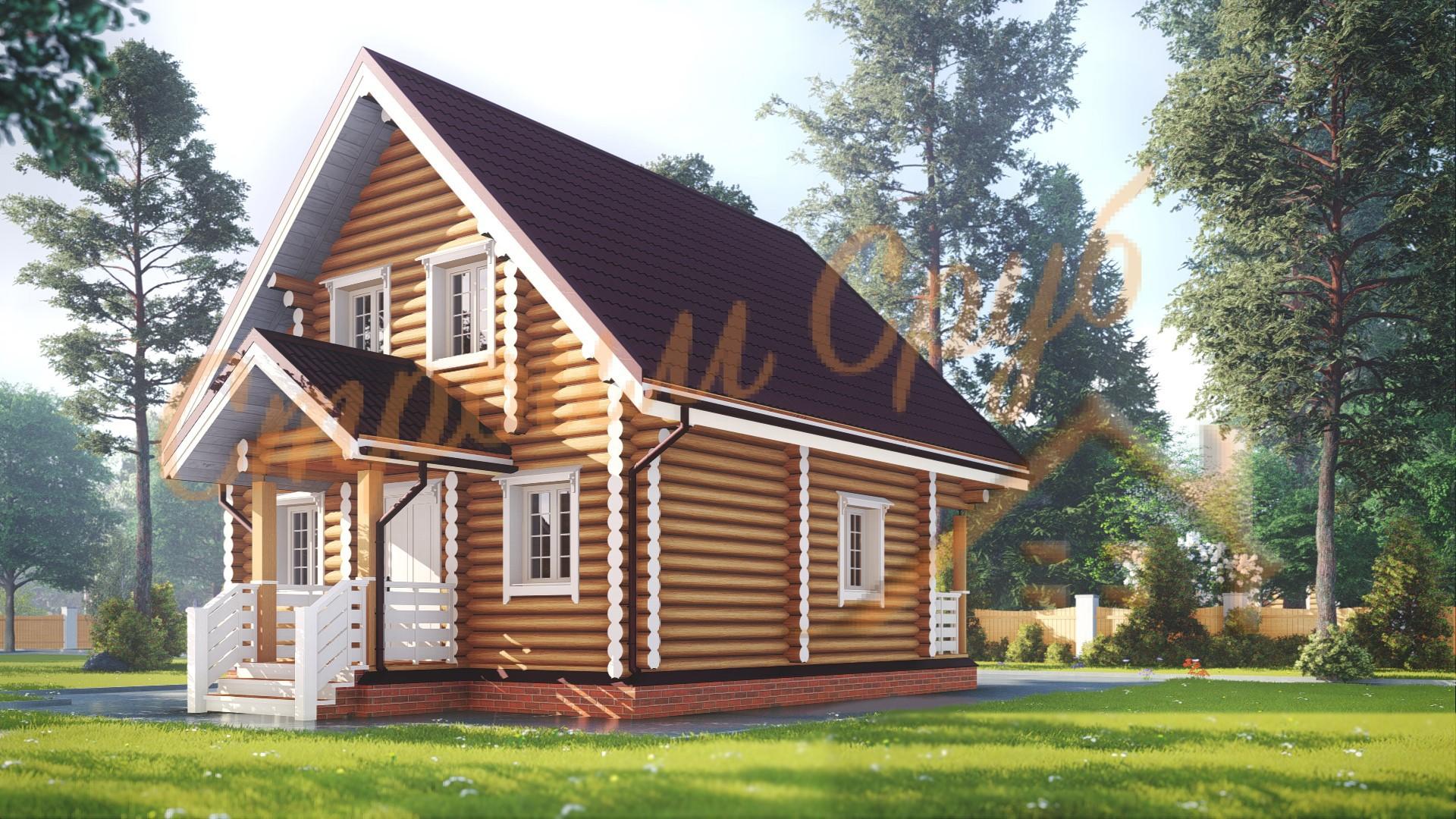 Проект дома из бревна №18