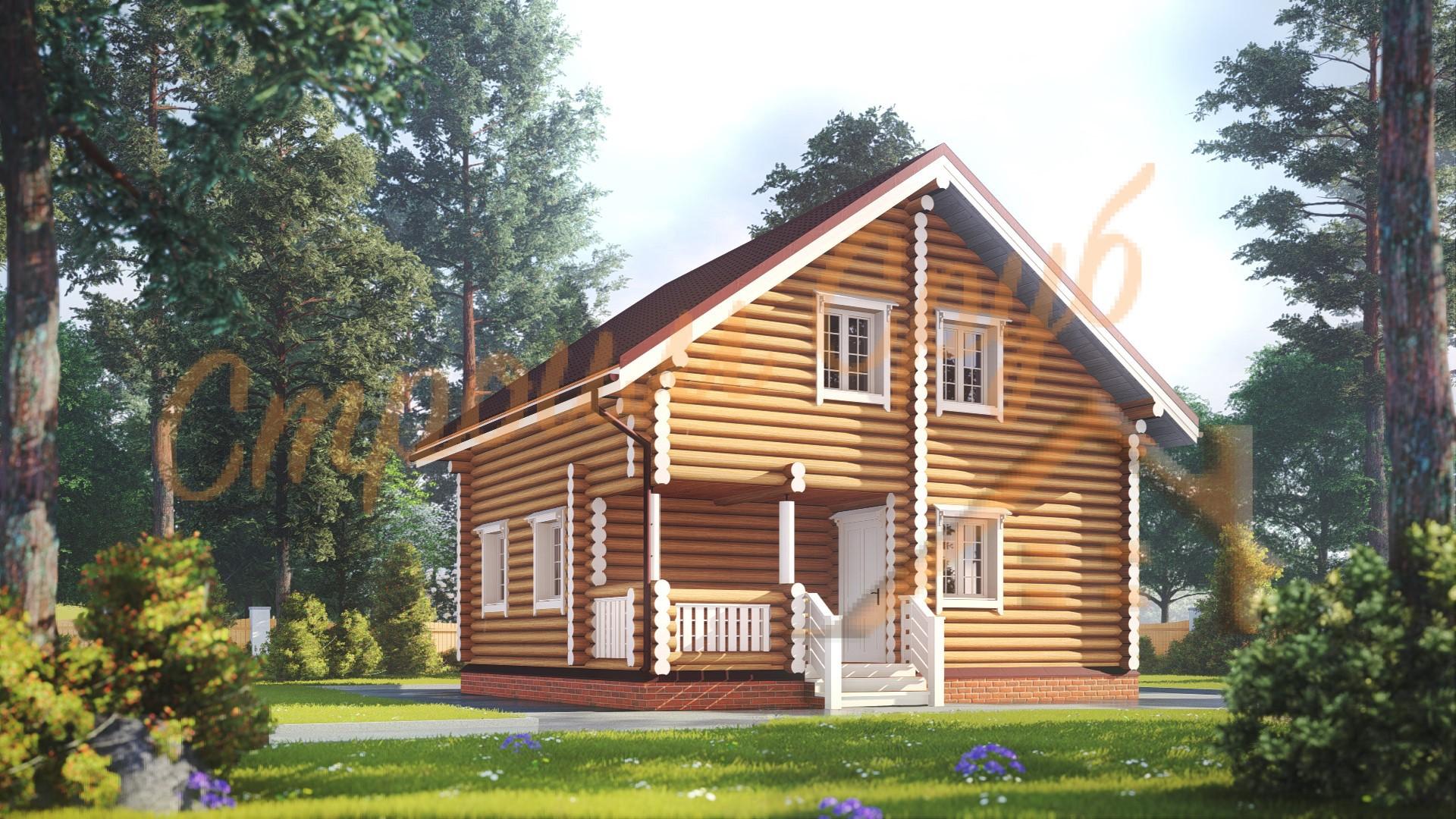 Проект дома из бревна №2