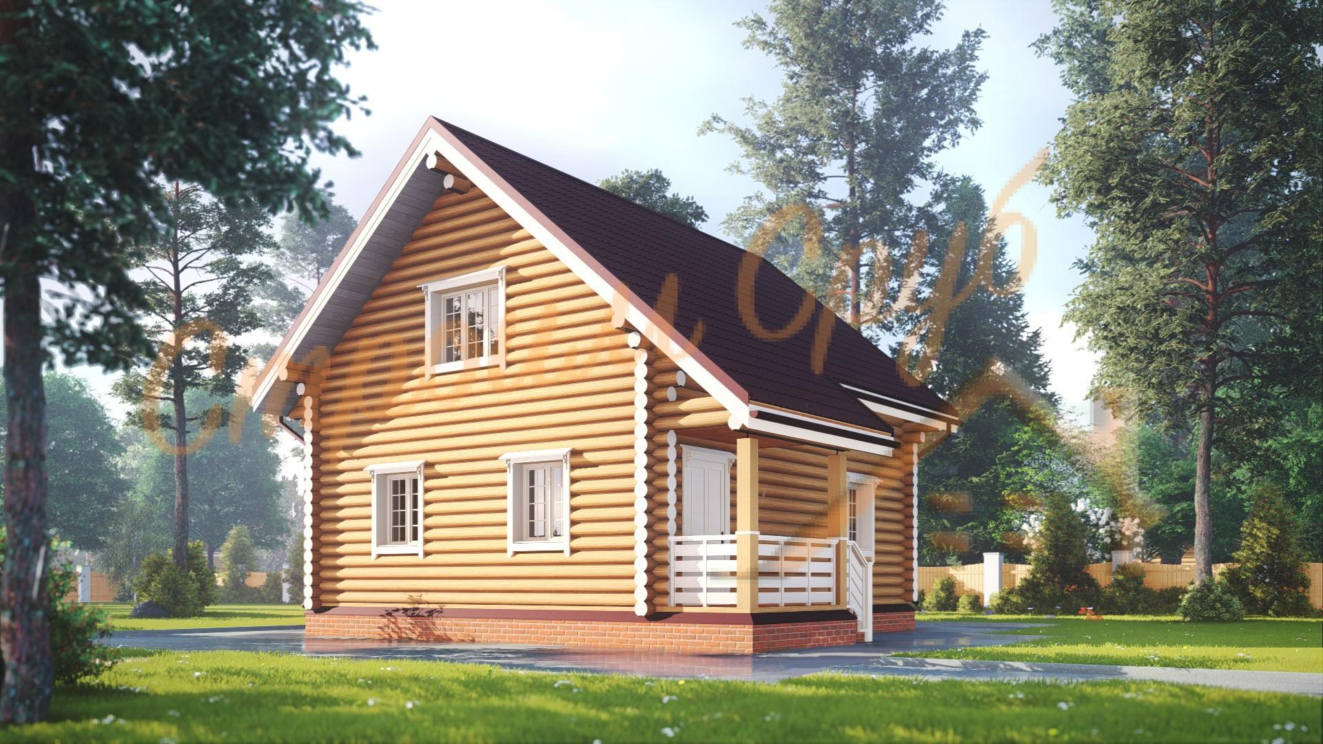 Проект дома из бревна №20