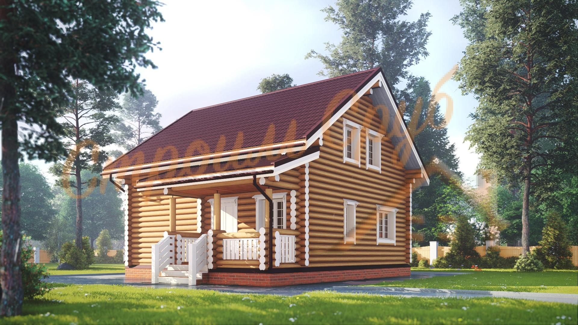 Проект дома из бревна №4