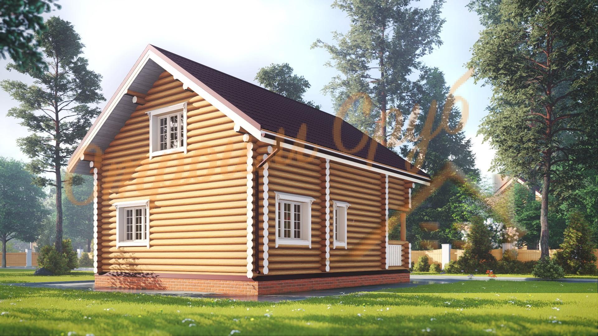 Проект дома из бревна №5