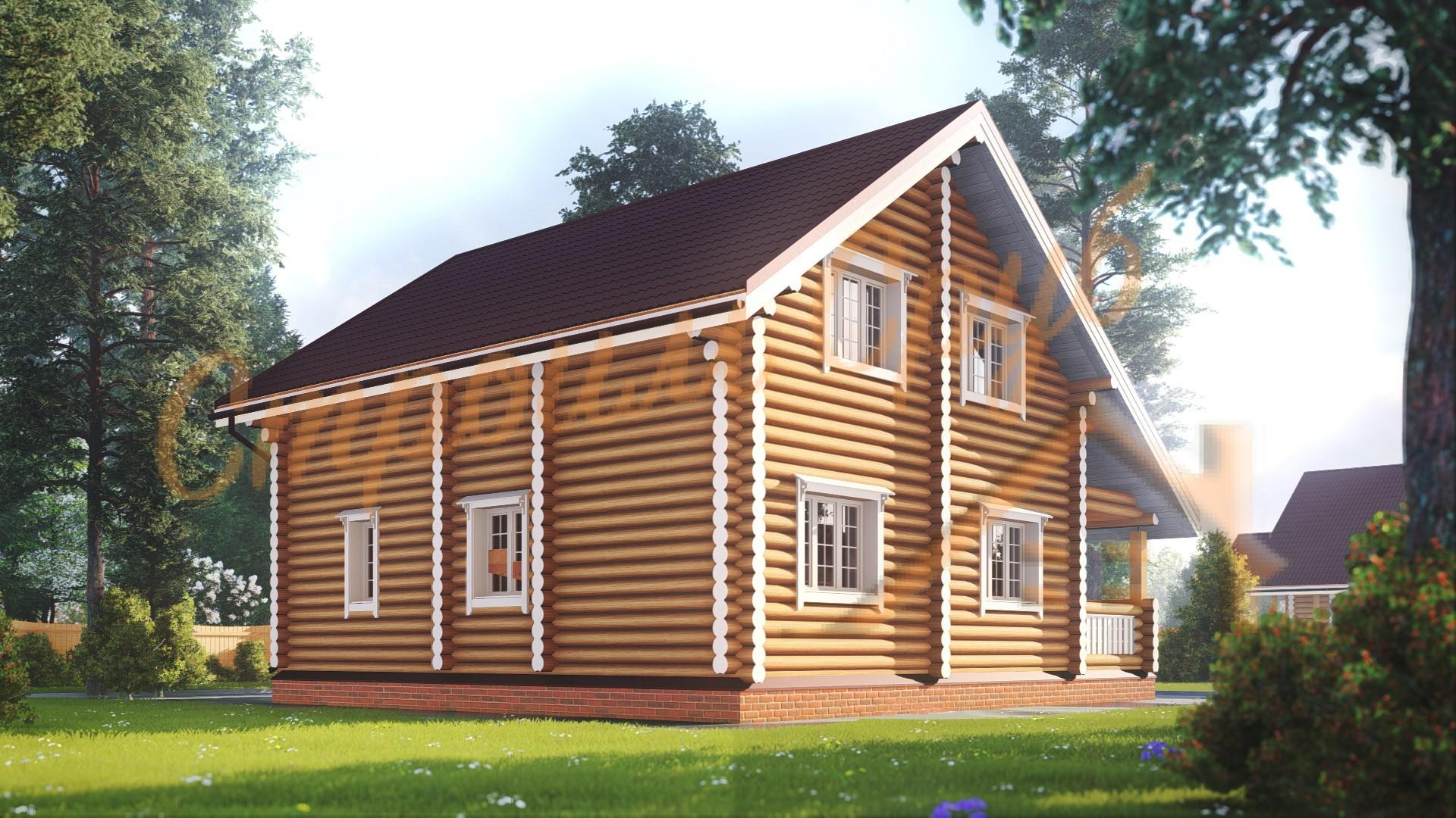 Проект дома из бревна №8