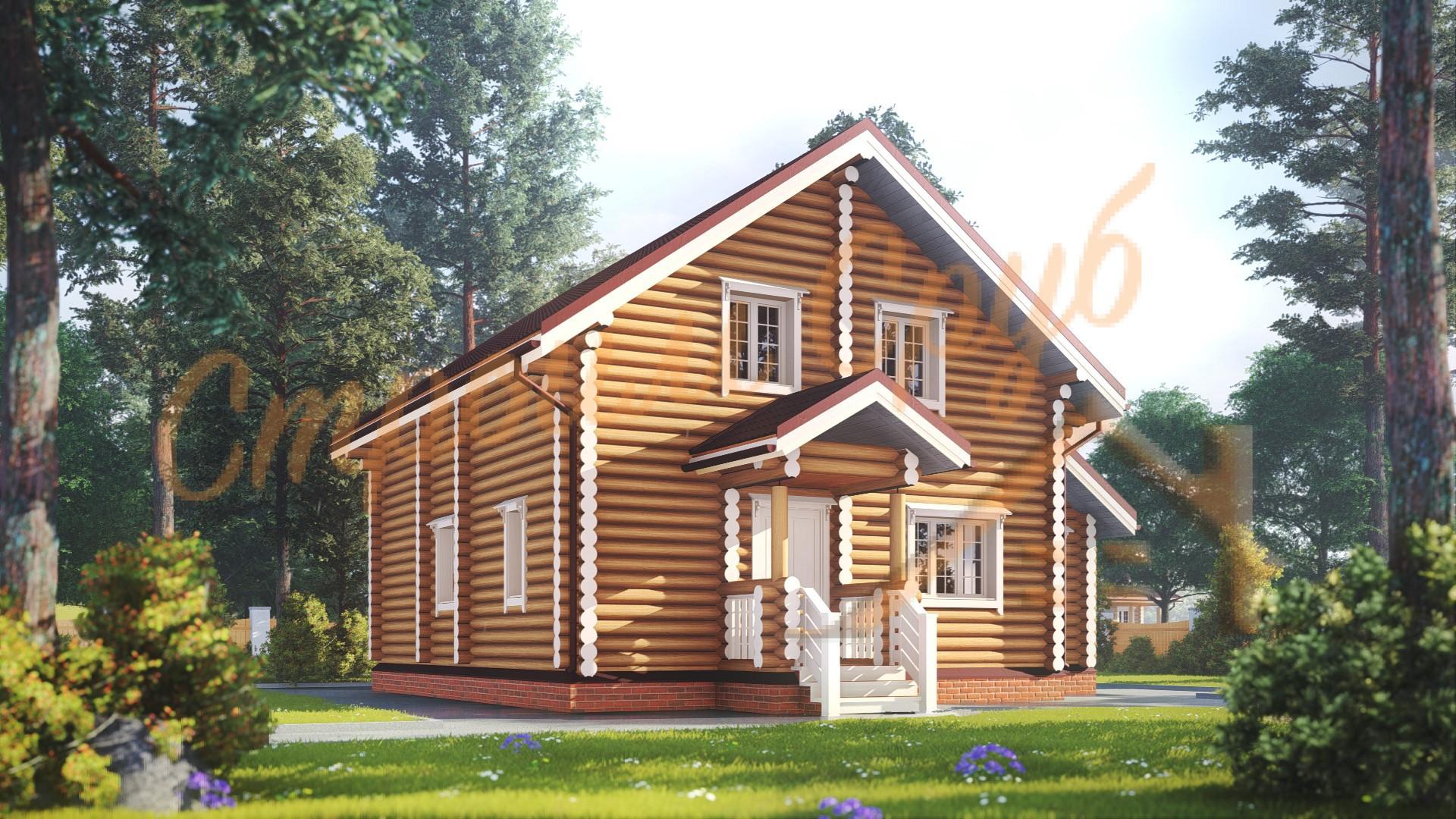 Дом из бревна 10,5х10 «Крепкий»
