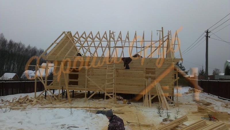 Фото строительства брусового дома