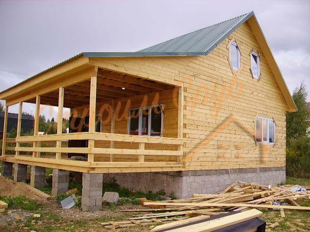 Строительство дома из бруса в Московской области