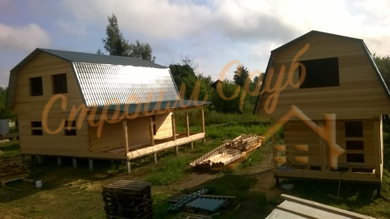 Дом и баня из бруса в Ногинском районе