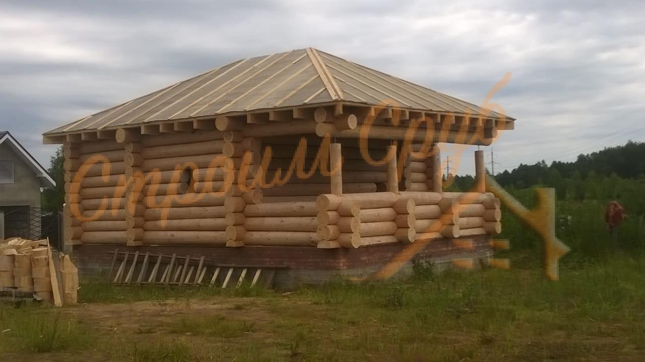 Строительство бани из бревна в Талдомском районе МО
