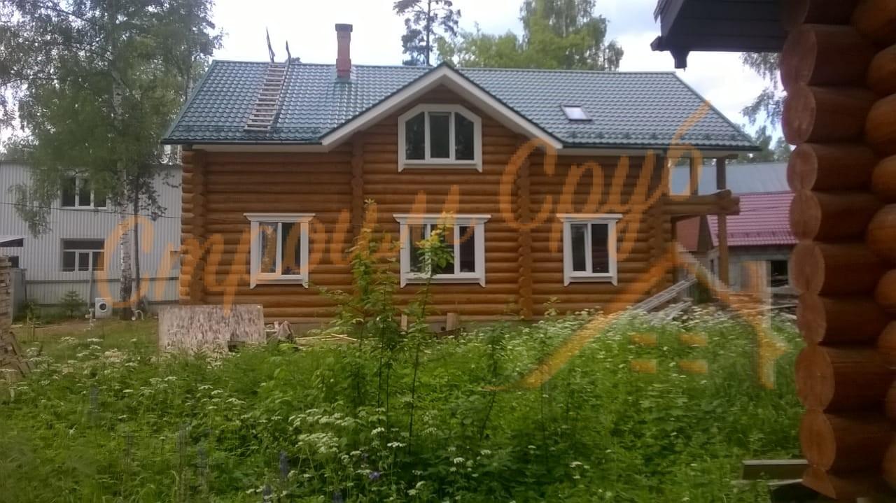 Завершено строительство дома из бревна, Московская область