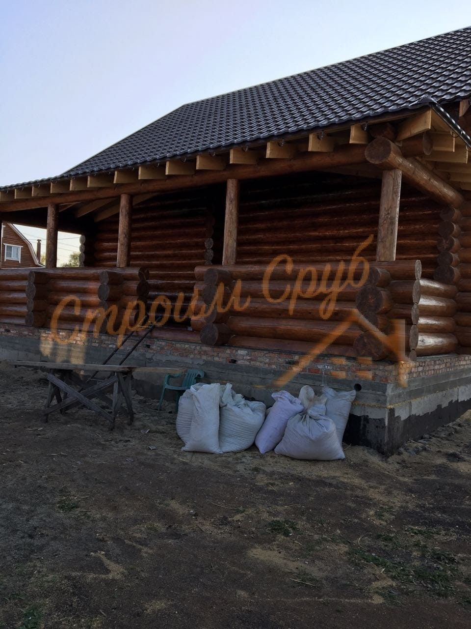 Дом из бревна 8х10 в Тульской области