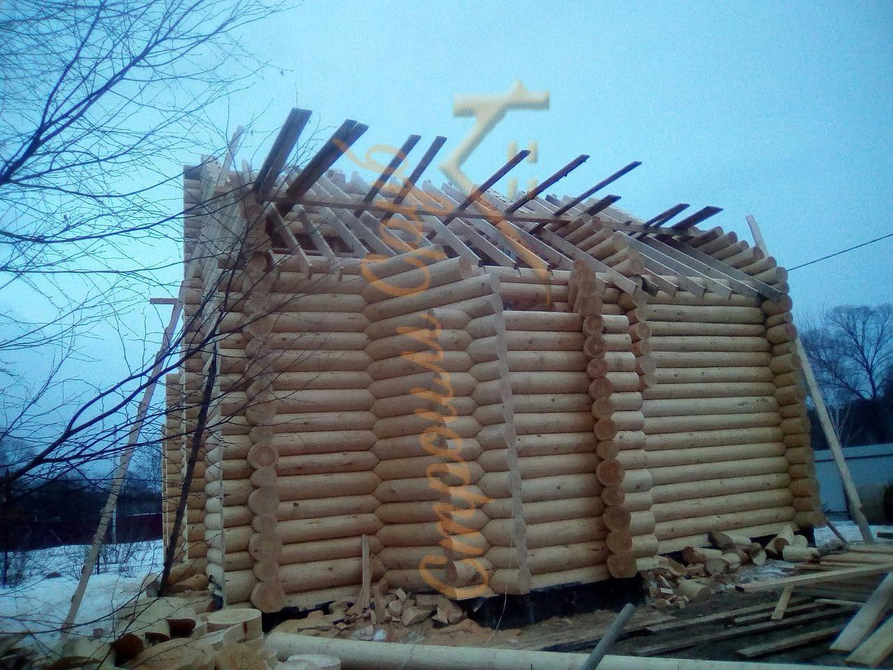 Дом из бревна 8х12, Серпуховский район
